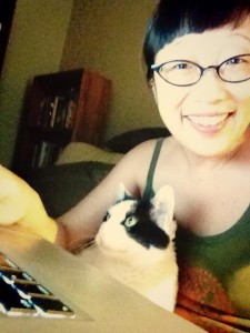 Greetings from the Writing Batcave! Oreo my editor has some notes on my latest draft. Everyone's a critic! Sheesh! :)
