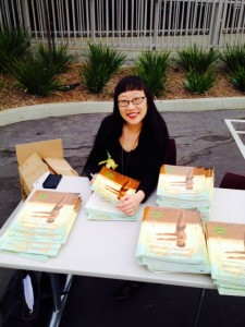 Me signing my books for parents and students!