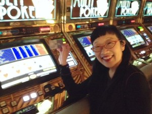 "Paula ""High Roller"" Yoo :) I won 753 pennies this year at the penny slots. :)"