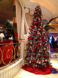 I love the decorations in Vegas over the Christmas and holiday season!