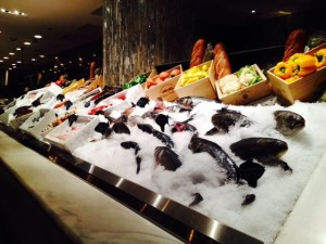 Gorgeous fish on display at Milos Greek restaurant at the Cosmopolitan!