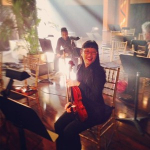This is me waiting between takes on the Aloe Blacc music video shoot.
