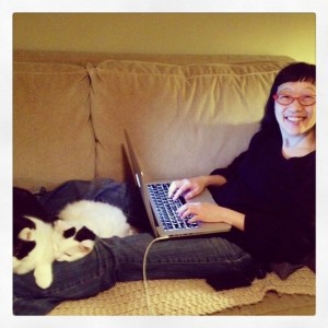 I'll be in the Writing Batcave for awhile, but don't worry. My cats are keeping me company! :)