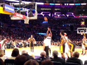 My view of the Lakers/Wizards game on March 21, 2014 at the Staples Center. Wow! Go Lakers!