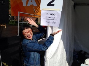 "Meet your LA Times Festival of Books moderator, ""P. Yoo""! haha!"