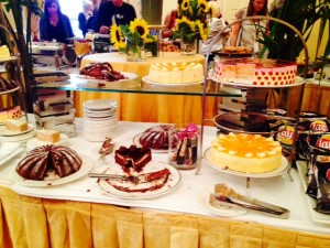 I made sure I left room for the dessert table at the LA Times Festival of Books green room banquet!