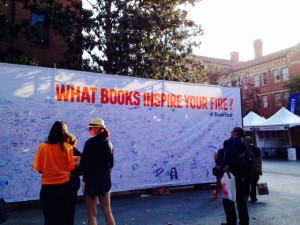 Festival goers wrote down their favorite books that inspired them. I hope someone included my GOOD ENOUGH! :)