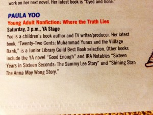 I was so excited to be included in the LA Times Festival of Books edition! :)