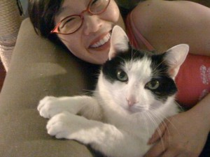 Me & Oreo watching TV together!