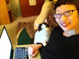 Oreo never leaves my side while I write because he wants to hear how the story ends!