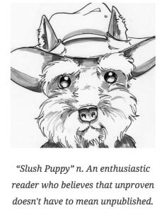 Meet Amy Cherrix's puppy Sam Elliott Cherrix of http://slushpilepress.com