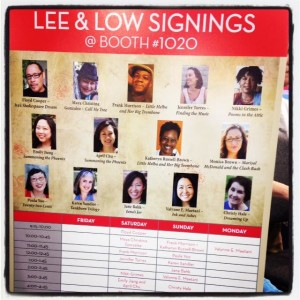 The Lee & Low Booth signing schedule for the 2015 ALA Conference in San Francisco!