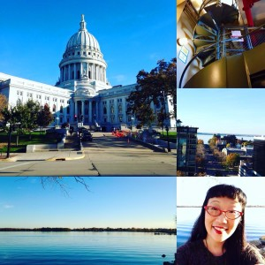 My tour of Madison included the State Capitol and Lake Monona!