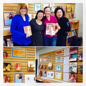 I had a blast visiting the awesome EAGLE SCHOOL (L-R: Teachers Ellen Blum, me, katie McEnaney, and parent Tiffany Lim)
