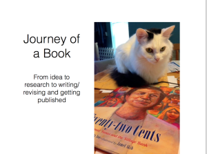 This was my school presentation Keynote slide show about the Journey of a Book from idea to publication.