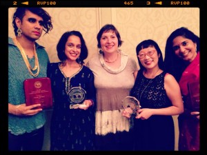 Congrats to the 2015 South Asia Book Award winners Vivek Shraya, Tanuja Desai Hidier, Padma Venkatraman and Paula Yoo. Special thanks to South Asia Center's assistant director Rachel Weiss!