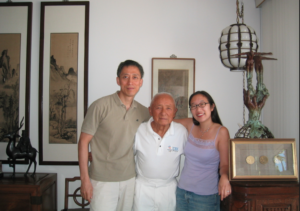 L-R: Illustrator Dom Lee, Dr. Sammy Lee, Paula Yoo
